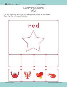 Explore colors for toddlers and preschool children. Download, print it and cut out the board and cards. Glue the cards on clothespins and have fun activity!