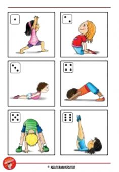 yoga for kids --- Physical Activities For Kids, Gross Motor Activities, Gross Motor Skills, Physical Education, Toddler Activities, Kids Yoga Poses, Yoga For Kids, Exercise For Kids, Preschool Learning