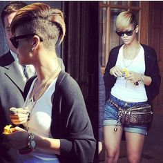 #rihanna #hair #undercut i really want this when my hair grows back