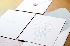 Cores do texto de convite de casamento