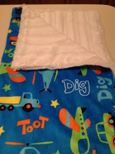 Toy Chest Minky Fabric Snuggle Up Blanket Cuddlesoftkits