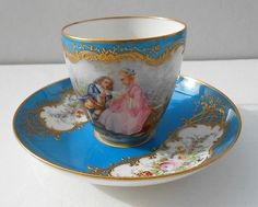 Authentique Tasse de Sevres Decor Scene Galante Epoque 1900 | eBay