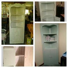 Refurbished corner cabinet