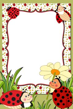 Boarder Designs, Frame Border Design, Page Borders Design, Page Boarders, Boarders And Frames, Classroom Wall Decor, Flower Graphic Design, Ladybug Art, Spring Crafts For Kids