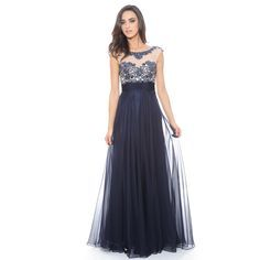 Feel like royalty when you wear this gorgeous beaded long dress.