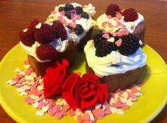 Muffins Canela e Amêndoas Dia dos Namorados | Aqui Há Gata Receitas