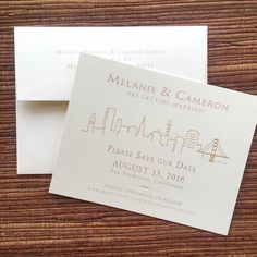 San Francisco Wedding Save The Date / Birthday by papercakedesigns
