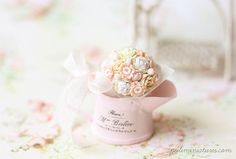 Tranquility is the name of my latest dollhouse miniature bouquet. When one thinks of tranquility, the colors like blue and ivory comes into...
