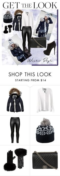 """Celebrity Style"" by madcar-2013 ❤ liked on Polyvore featuring Abercrombie & Fitch, Studio, Pistil, Harrods, Chanel, Giuseppe Zanotti, women's clothing, women's fashion, women and female"