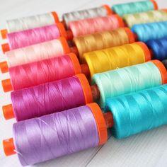 Aurifil SUNSHINE Collection//Vanessa Goertzen-12 Aurifil 50 wt Threads large sz