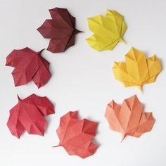 Origami Leaf Decoration in seasonal by OrigamiPaperAndMore on Etsy
