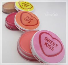 MUA lip balms Sweet Kisses, Lip Balms, The Balm, Lips, Chocolate, Products, Chocolates