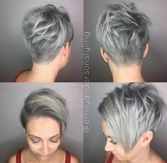 Short Funky Hairstyles Awesome Purple Color Melt And Goreous Clipper Cutmaster Barber Rickey