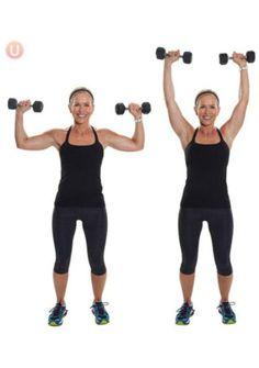 10 Must-Do Strength Training Moves For Women Over 50: Shoulder Overhead Press