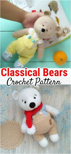 free-crochet-bear-patterns-amigurumi-patterns-crochet-baby-toys-patterns-te/ - The world's most private search engine Animal Knitting Patterns, Crochet Dolls Free Patterns, Stuffed Animal Patterns, Amigurumi Patterns, Free Crochet, Crochet Teddy Bear Pattern, Crochet Animal Amigurumi, Crochet Animals, Teddy Bear Design