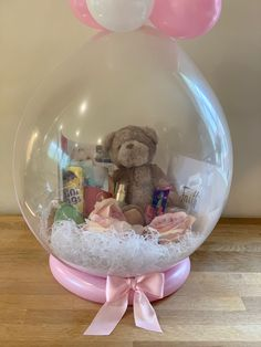 Stuffed balloon, balloon gift, bear in a balloon, clear balloon, teddy balloon Buxton Derbyshire Balloon Box, Balloon Gift, Balloon Flowers, Balloon Bouquet, Bubble Balloons, Big Balloons, Birthday Balloon Decorations, Birthday Balloons, Personalised Gifts Diy