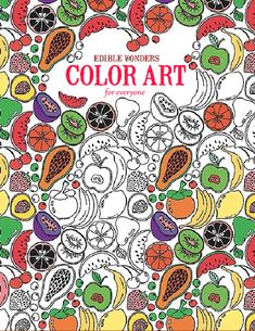 Edible Wonders Color Art for Everyone - Enjoy creative entertainment with Edible Wonders Color Art for Everyone, an adult coloring book from Leisure Arts and The Guild of Master Craftsman Publications Ltd. It features 24 design pages of fanciful line drawings of fruits, sweets, shakes, lollipops, and more.You will get hours of enjoyment and stress relief as you enhance the designs with colored pencils, markers, and other art media. Coloring has been proven to generate wellness and quietness…