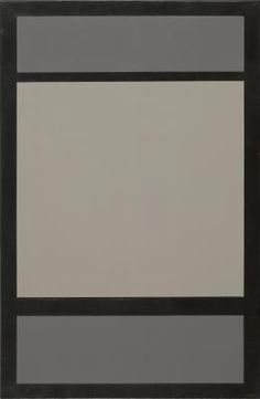Amedé Cortier, 1921 - 1976, Composition with two shades of grey and black, acrylic on canvas, 1966-67, 85,5 x 130,5  cm.