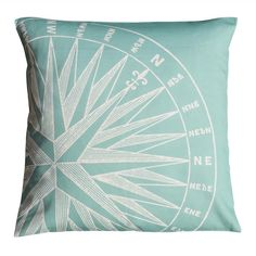 Compass Cushion - Sea Green - CoastalHome.co.uk: Coastal Living