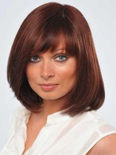Human Wigs with Bangs, Full Lace Wigs Human Hair, Real Human Hair Wigs for Women 100 Human Hair Wigs, Remy Human Hair, Wig Hairstyles, Straight Hairstyles, Casual Hairstyles, Ginger Blonde Hair, Red Hair, Vestidos