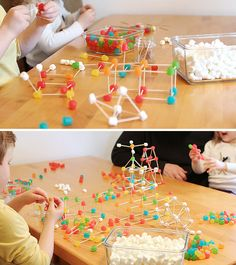 Build STEM skills, inspire innovation with this #DIY engineering craft for kids. Love the idea of using gum drops and marshmallows.