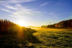Rising Sun Rising Sun, Sunrise, Country Roads, Landscape, Scenery, Sunrises, Corner Landscaping