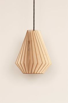 Hector - wooden hanging lamp. €99,00, via Etsy.