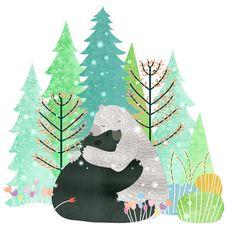Someone Needs a Bear Hug by SmallDosesofWonder on Etsy Hug Illustration, Love Bear, Bear Art, Woodland Creatures, Cute Drawings, Cute Art, Watercolor Art, Spirit Bear, Images