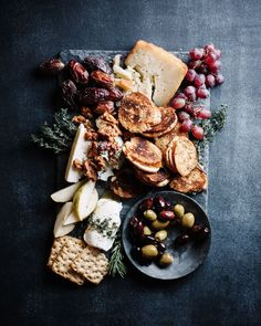 fall cheese board with mini grilled cheese