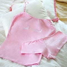 Just Married Camisole & Boy Short Set . This is so cute!