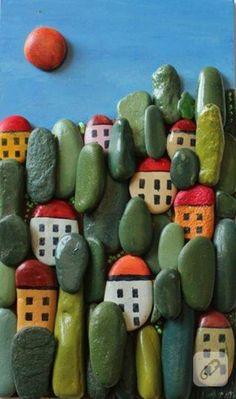 geschenkideen bemalten steine basteln mit steinen tropisch