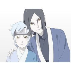 Father and Son(I have this theory that mitsuki's mom is tsunade...)