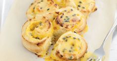 One taste of the tangy fruit filling and you& be full of passion for these sweet scrolls. Scrolls Recipe, Passionfruit Recipes, Passionfruit Slice, Aussie Food, Vanilla Custard, Custard Recipes, Sweet Tarts, Sweet Bread, Aussies