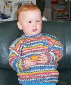 Josh wearing his new Opal wool jumper