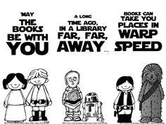 Star Wars bookmarks...Facebook fan freebie https://www.facebook.com/TeachingFabulousFirsties/