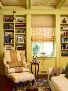 Yellow living room: Benjamin Moore 'Henderson Buff' by xJavierx, via Flickr