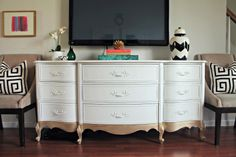 Love this dresser and TV set up!