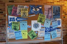 Bulletin Board in Monsters University Student Lounge - easy & clever decoration
