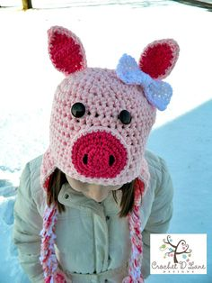 Little Pink Piggy Hat
