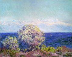 Au Cap d'Antibes par vent de mistral (C Monet - W 1176),1888.