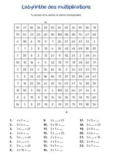 Worksheets 362680576238244780 - Les labyrinthes des multiplications Source by mariongul Math Tables, Easy Fathers Day Craft, Montessori Math, Math Multiplication, Math Practices, Cycle 3, 4th Grade Math, Math For Kids, Math Worksheets
