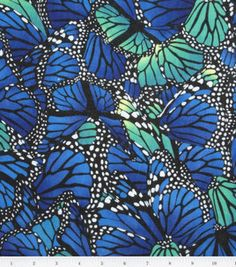 Printed Gauze- Blue Butterflies : apparel fabric : fabric :  Shop | Joann.com