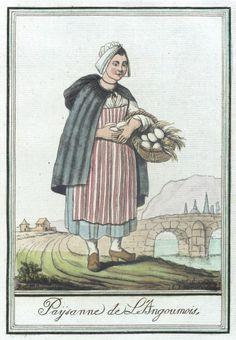 Costumes de Différent Pays, 'Paysanne de L'Angoumois' Jacques Grasset de Saint-Sauveur (France, 1757-1810) Labrousse (France, Bordeaux, active late 18th century) France, circa 1797:
