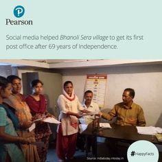 Bhanoli Sera is a remote village in Uttarakhand, which was facing lot of problems due to the absence of postal facilities. Arpita Chakrabarty, a journalist raised an issue through an article which caught fire on social media and within 4 days the village got its first post office. ‪#‎HappyFacts‬
