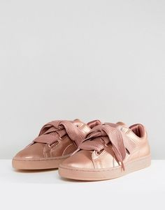 a00073b3b0f Puma Suede Heart Sneakers In Copper