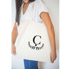 Custom tote bags for bridesmaids! More Colors available! #bagsandpurses #weddingparty #giftforher #bridalparty #guestfavor