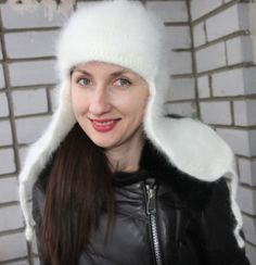 Size M-L 100/% Longhair goat fluff Hat by Jane Rodas hand knit Men Women Mohair