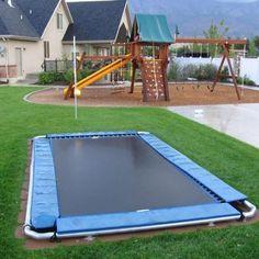 A SAFE trampoline! No poles, no long fall!