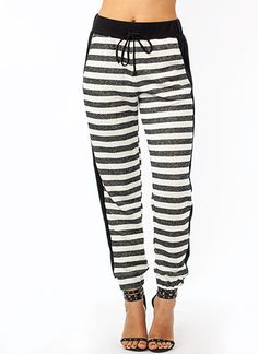 Get Lined Up French Terry Joggers