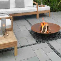 Flint Grey Limestone by Grey Paving, Paving Slabs, Garden Inspiration, Garden Ideas, Backyard, Patio, Fire Pits, Decks, Garden Design